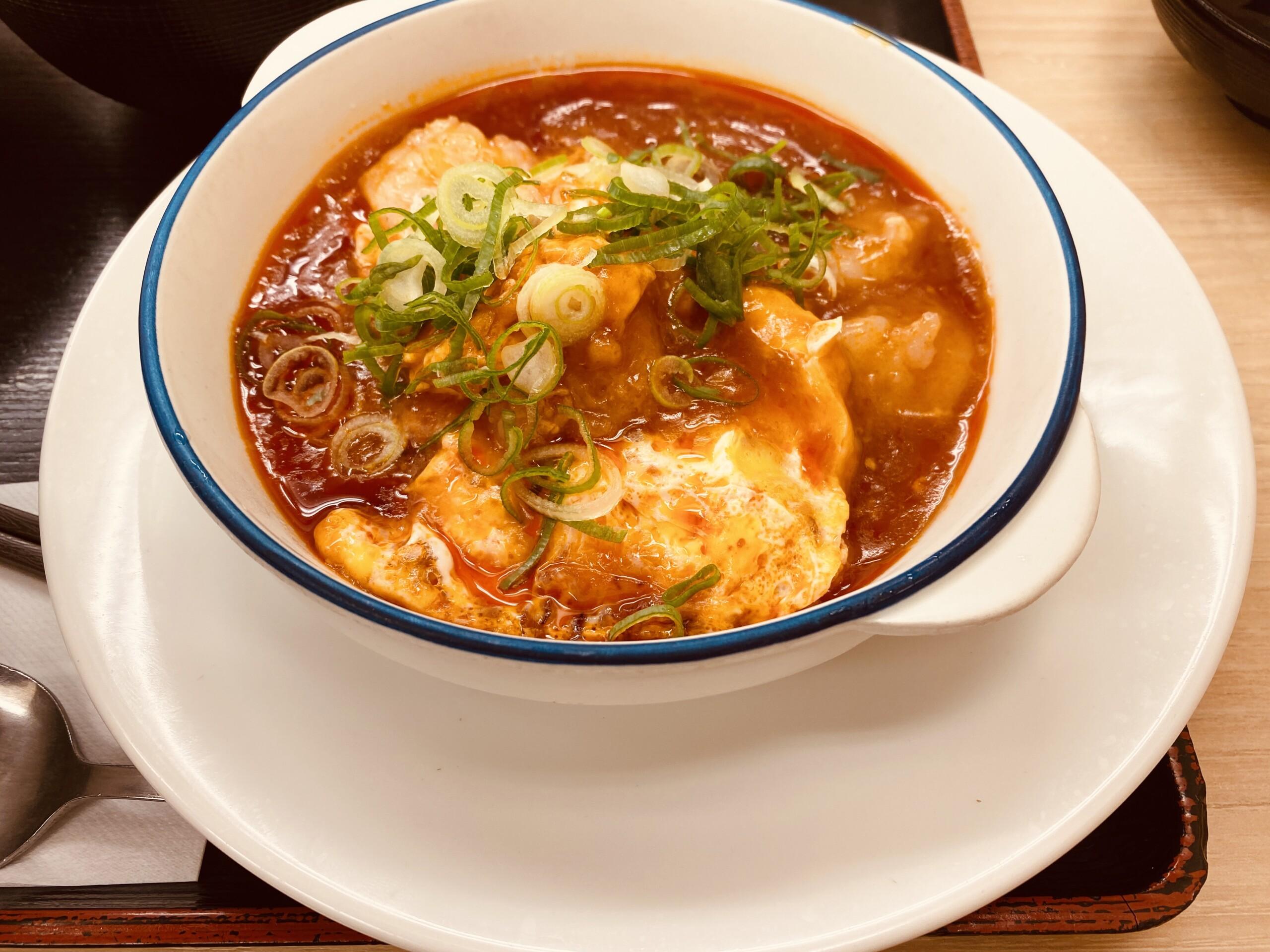 松屋海老のチリソース定食
